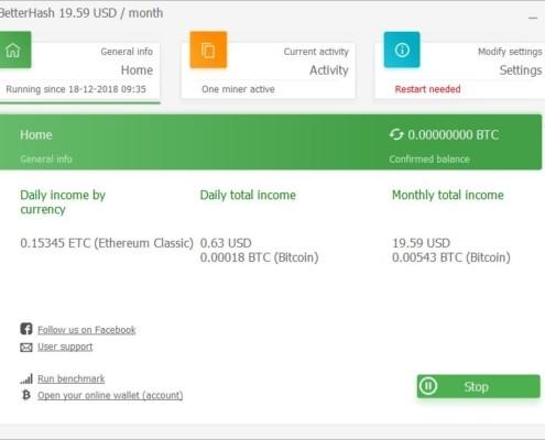 BetterHash Bitcoin Miner for Win 64