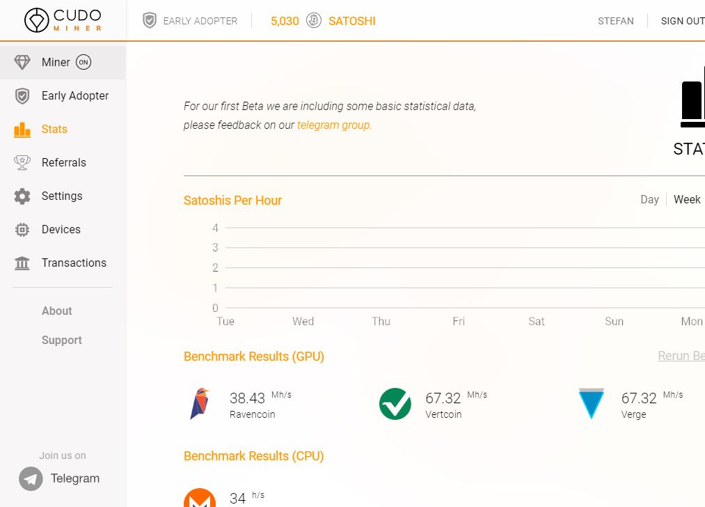 Cudo Miner - A beta Bitcoin Mining Software for Windows, Linux and Mac