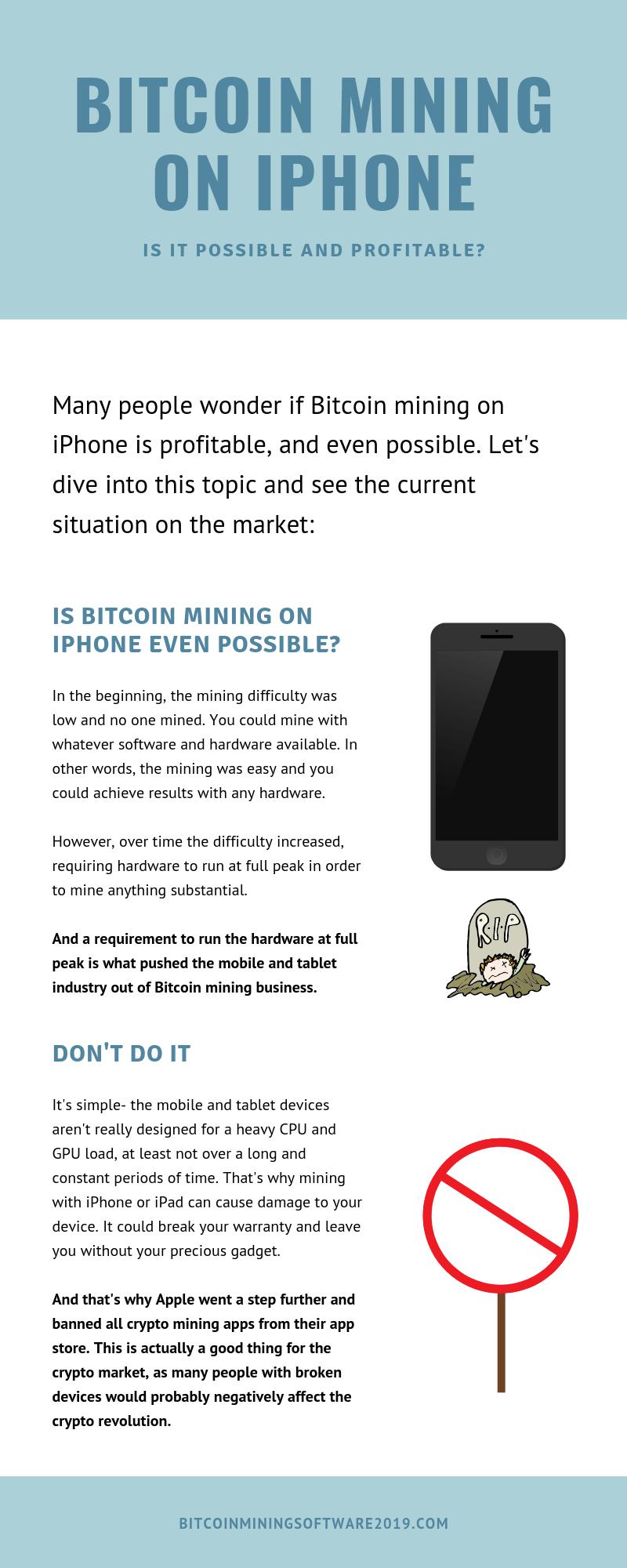 Bitcoin mining on iphone