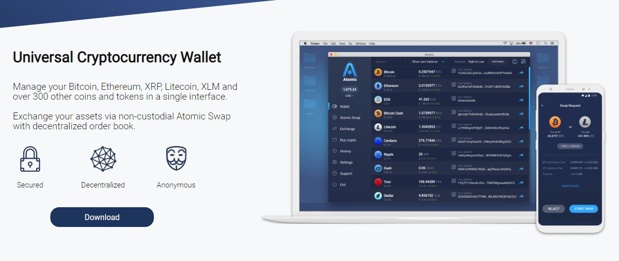 Bitcoin wallet with multi assets - Atomic Wallet