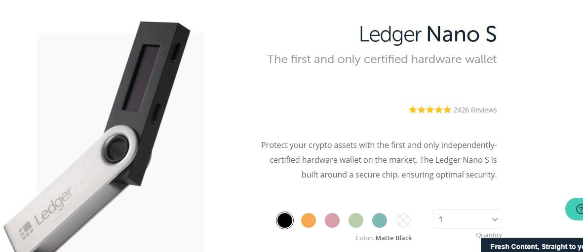 Ledger Nano S - Bitcoin Wallet Example