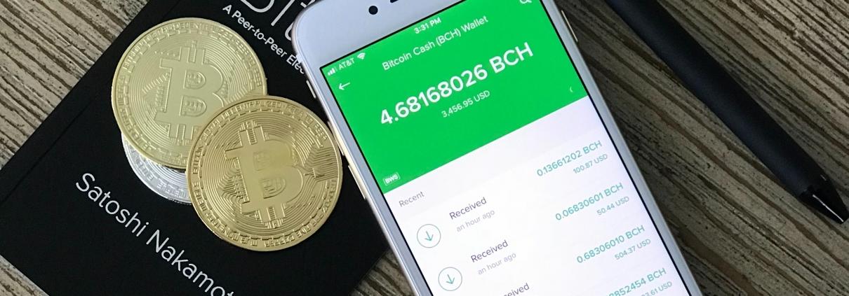 Bitcoin mining wallet illustration