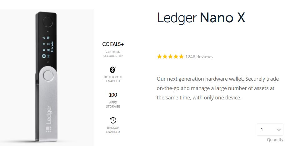 ledger nano x wallet for crypto