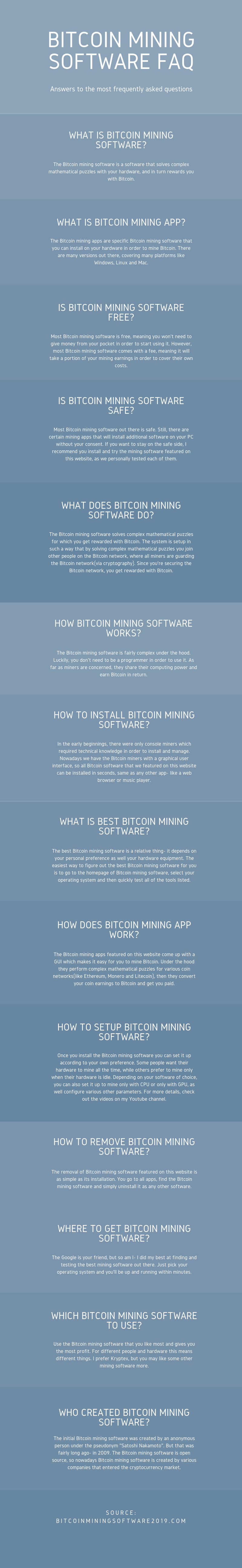 Bitcoin Mining Software FAQ